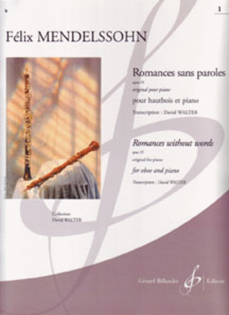 Romances Sans Paroles Op.19 Vol. 1