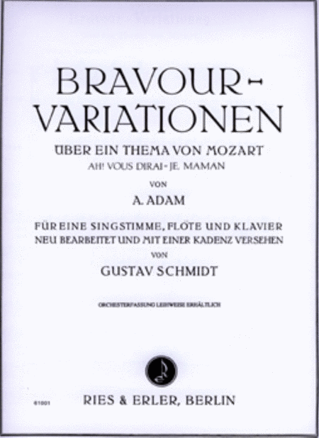 Bravour-Variationen uber Ein Thema Von Mozart