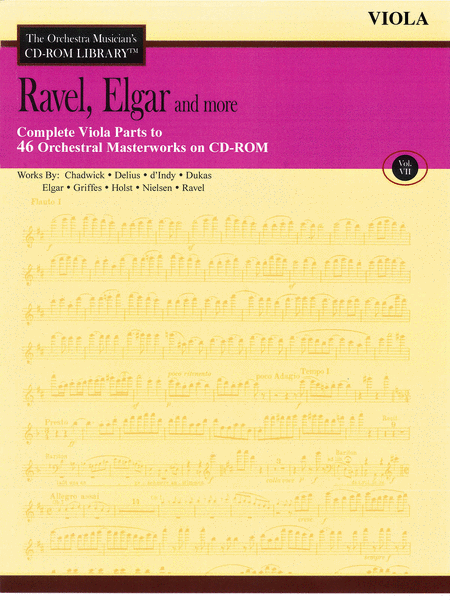 Ravel, Elgar and More - Volume VII (Viola)