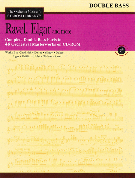 Ravel, Elgar and More - Volume VII (Double Bass)