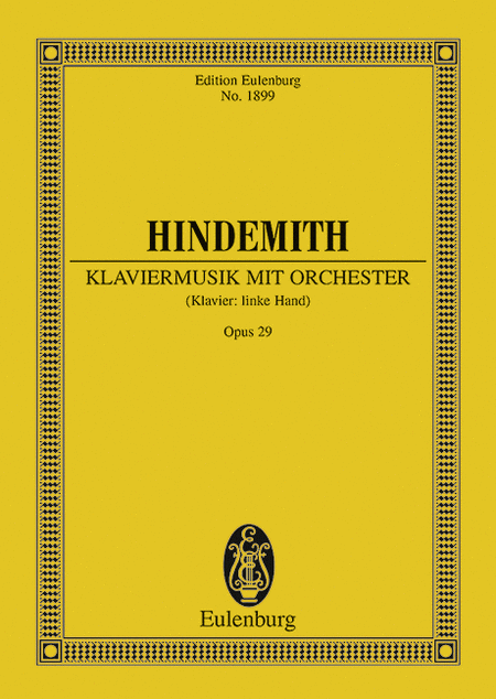 Klaviermusik mit Orchester, Op. 29