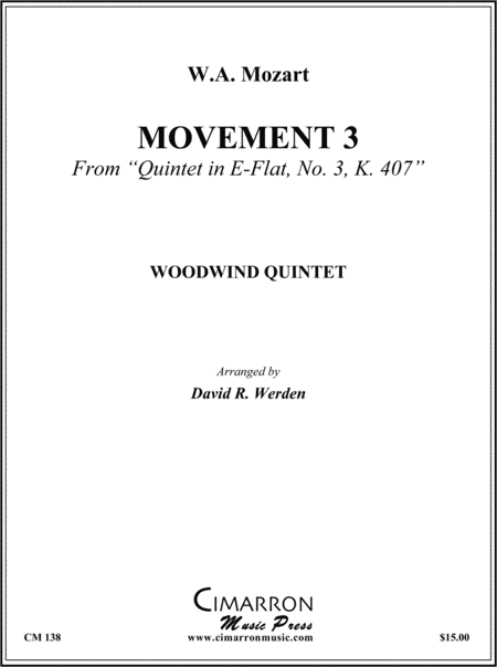 Quintet in Eb, No. 3, K. 407 (3rd Movement)