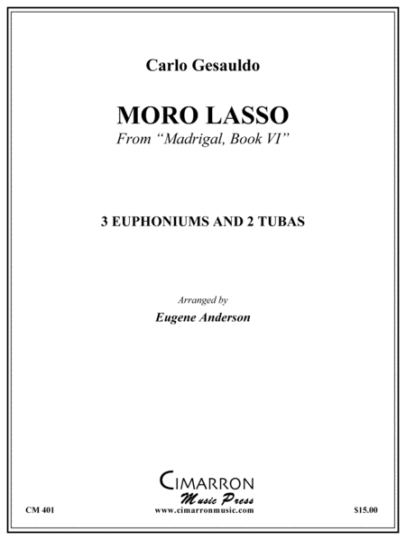 Moro Lasso from Madrigal Book 1