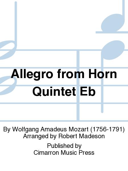 Allegro from Horn Quintet Eb