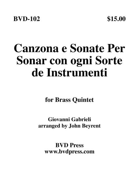 Canzona e Sonate Per Sonare con ogni Sorte de Instrumenti