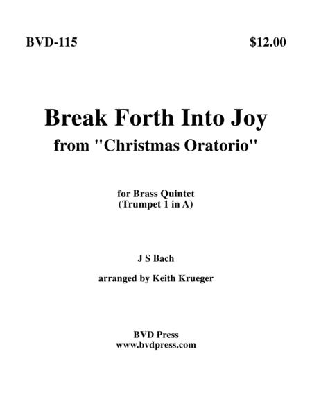 Break Forth Into Joy