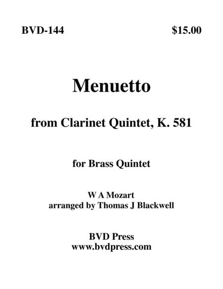Menuetto, K. 581