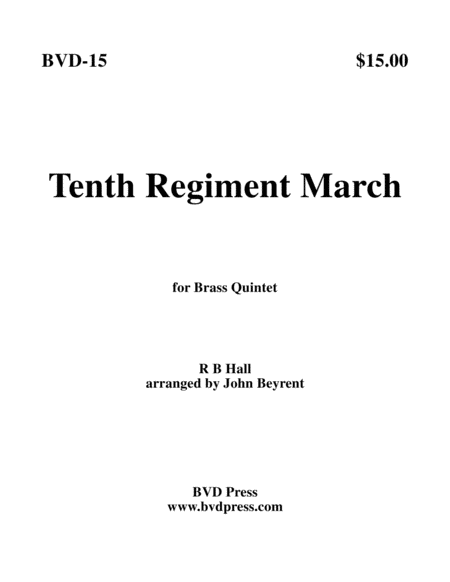 The 10th Regiment March