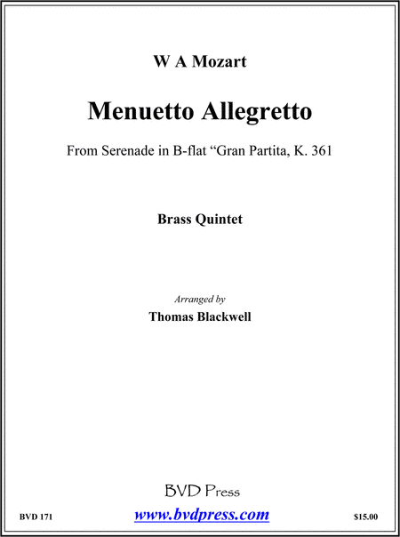 Menuetto Allegretto from