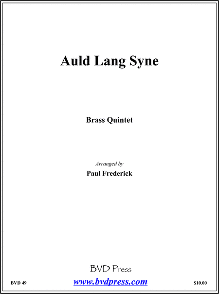 Auld Lang Syne Sheet Music By Traditional - Sheet Music Plus