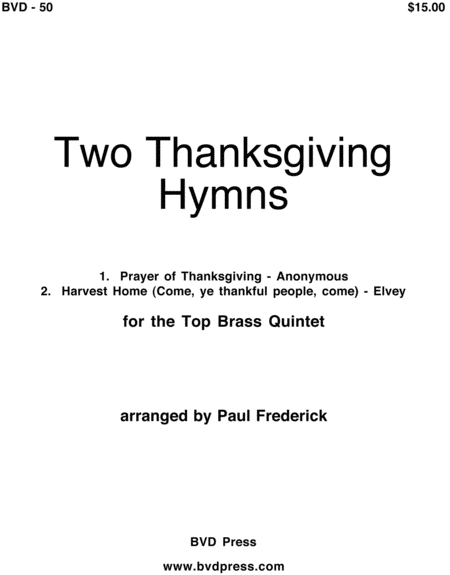 2 Thanksgiving Hymns