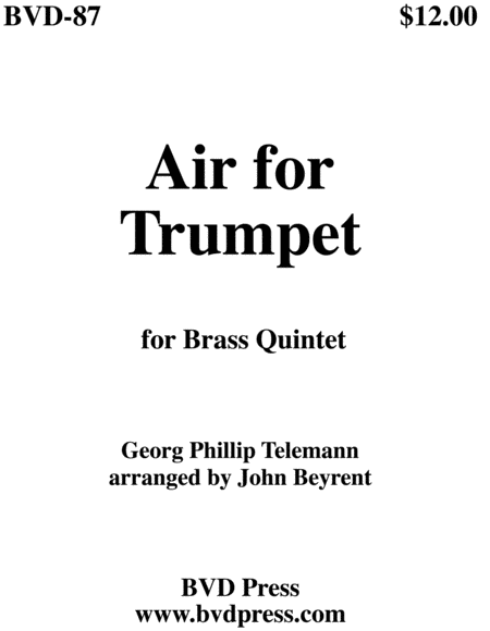 Air for Trumpet