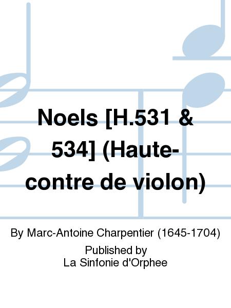 Noels [H.531 & 534] (Haute-contre de violon)