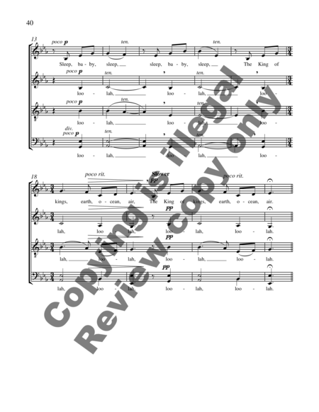 Carols of the Nativity (Full Score)