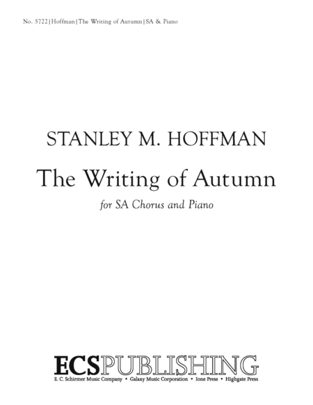 The Writing of Autumn