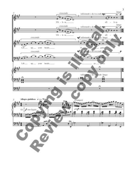 Lift Up Your Heads, O Ye Gates! (Choral Score)