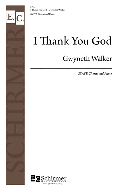 I Thank You God (SATB Choral Score)