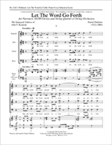 Let The Word Go Forth (Piano/Vocal Rehearsal Score)
