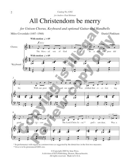 All Christendom Be Merry