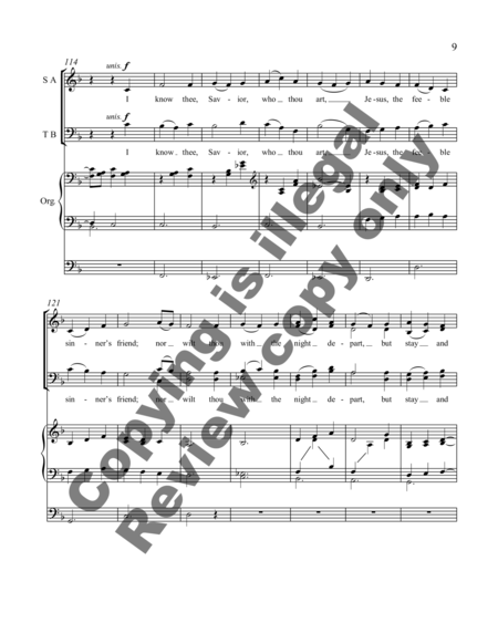 Thy Name is Love (Choral Score)