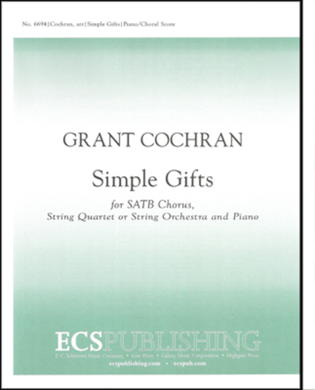 Simple Gifts (piano/choral score)