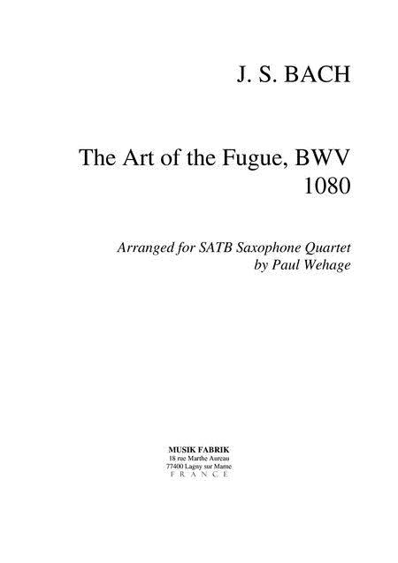 Art of the Fugue (complete)