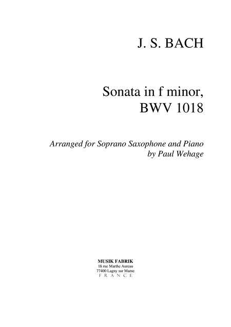 Sonata f minor BWV 1018