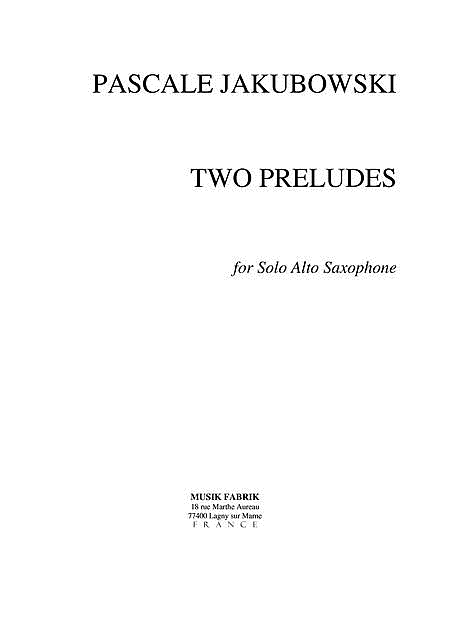 Two Preludes
