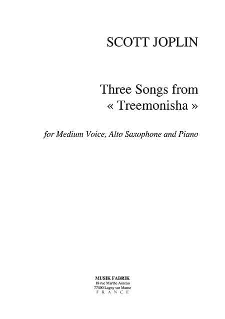 3 Songs from Treemonisha