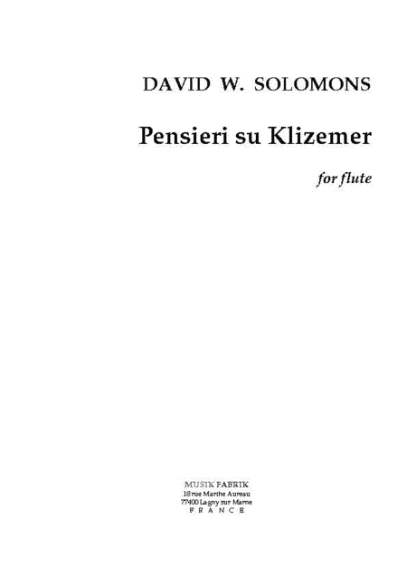 Pensieri su Klizemer
