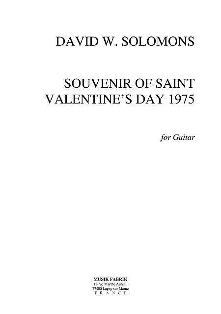 Souvenir of Saint Valentine's Day 1975