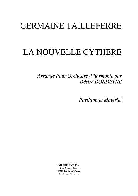 La Nouvelle Cythere for Concert Band