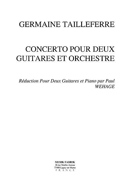 Concerto for 2 guitars and Orchestra