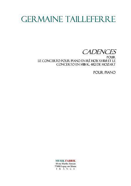 Cadenzas pour Piano Concertos Haydn et Mozart