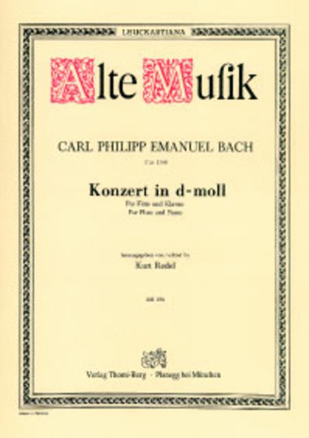 Konzert d-moll fur Flote und Streichorchester mit Cembalo ad libitum