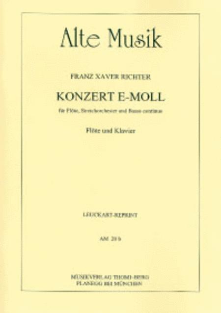 Konzert e-moll fur Flote, Streicher und Continuo