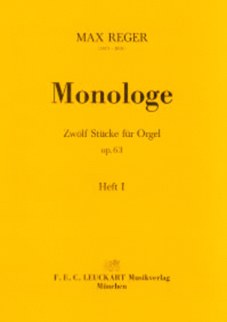 Monologe - Heft I