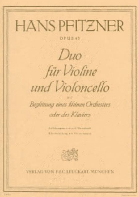 Duo fur Violine und Violoncello mit Orchester