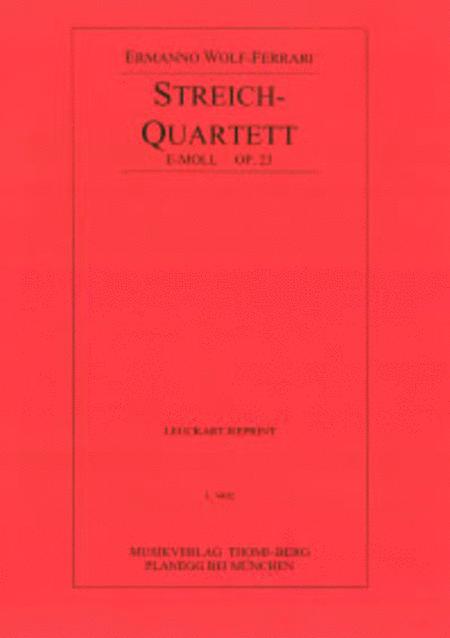 Quartett e-moll