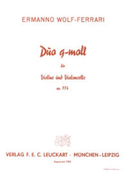 Duo g-moll fur Violine und Violoncello op. 33