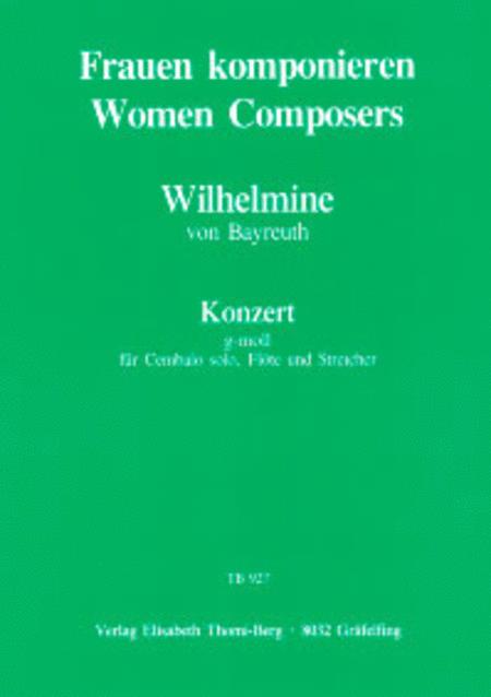 Konzert g-moll fur Cembalo, Flote und Streicher
