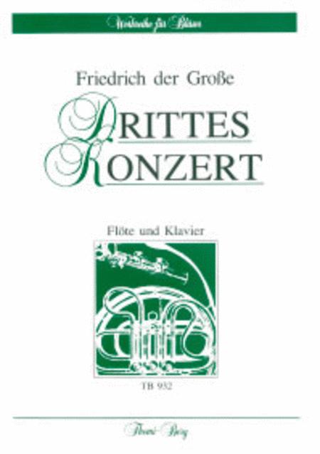 3. Konzert C-Dur fur Flote und Streichorchester