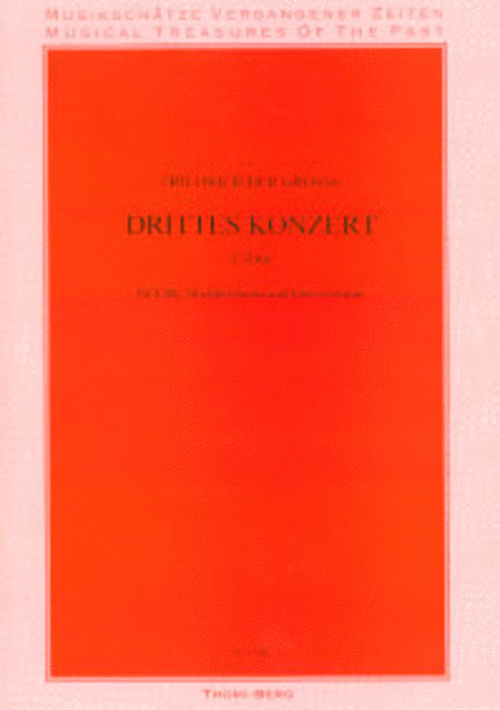 Drittes Konzert fur Flote, Streichorchester und Basso continuo