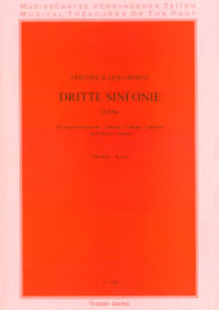 3. Sinfonie fur Streichorchester, 2 Floten, 2 Oboen, Fagott, 2 Horner (D) und Cembalo