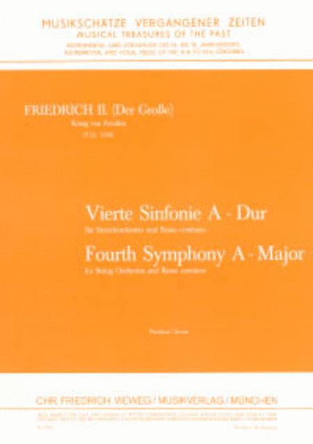 4. Sinfonie fur Streichorchester und Cembalo