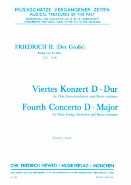 4. Konzert fur Flote, Streichorchester und Continuo