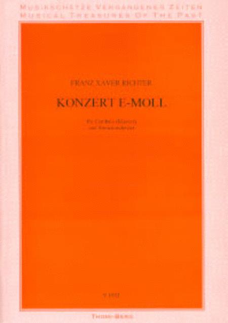 Konzert e-moll fur Cembalo und Streicher