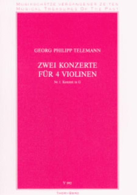 Zwei Konzerte fur 4 Violinen - Nr. 1
