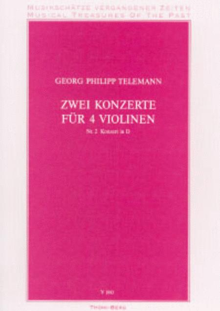 Zwei Konzerte fur 4 Violinen - Nr. 2