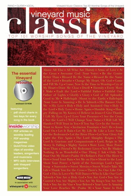 Vineyard Music Classics: Top 101 Worship Songs Of The Vineyard - Songbook